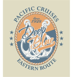 Deep Blue Pacific cruises vector image