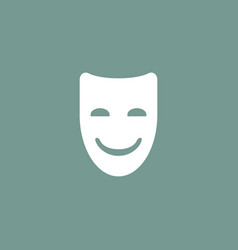 Happy mask icon simple vector
