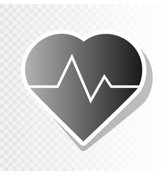 heartbeat sign new year vector image