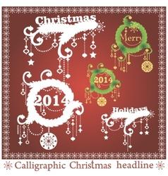 set of Christmas headlines vector image vector image
