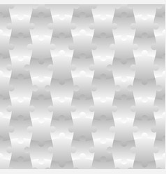 3d jigsaw tile seamless pattern white 001 vector image