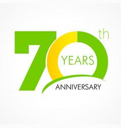 70 years anniversary logo vector