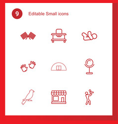 9 small icons vector