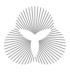 Abstract symbol made lines vector