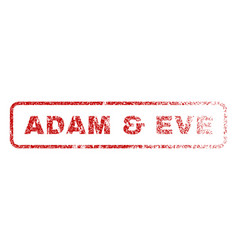 Adam eve rubber stamp vector