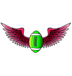 american football balloon with wings icon vector image