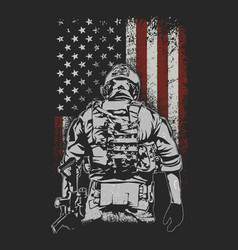 american soldier battlefield vector image