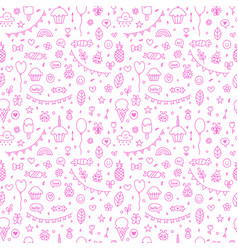 Background for cute little boys and girls hand vector