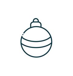 ball happy christmas line icon vector image