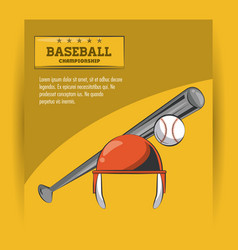 baseball championship game vector image