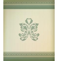 Beautiful vintage greeting card vector image
