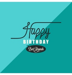 birthday vintage background vector image