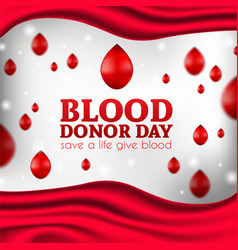 Blood donation poster realistic vector