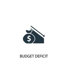 budget deficit icon simple element vector image