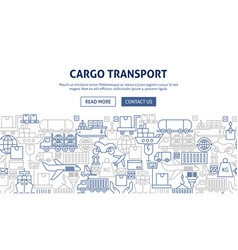 Cargo transport banner design vector