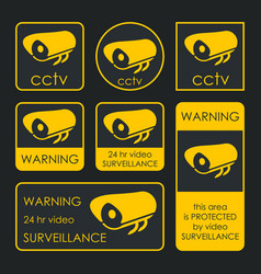 cctv camera security surveillance system vector image
