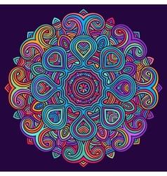 Celtic knot pattern card mandala amulet vector