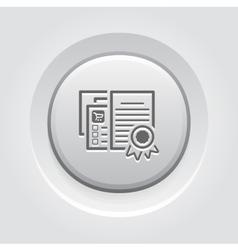 Certified Shop Icon Grey Button Design vector