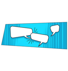 chat bubbles in pop art style comics books sign vector image