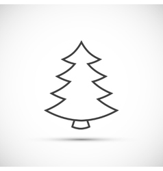 christmas tree thin line icon vector image