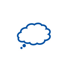 cloudy bubble chat vector image