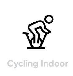 Cycling indoor activityt icon vector
