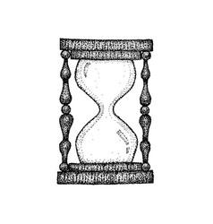 dotwork sand watch vector image