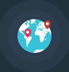 Earth world map vector image