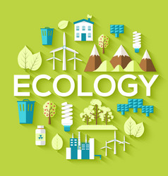 ecology circle infographics template concept vector image