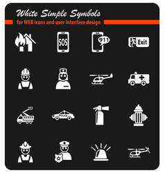 emergency icon set vector image