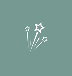 Fireworks icon simple vector