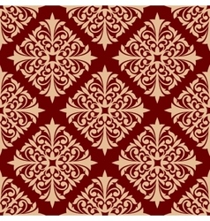 Floral seamless pattern with damask ornament vector