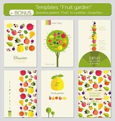 Fruit garden vector