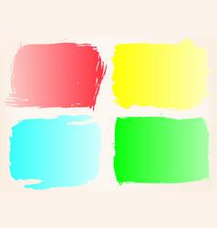 grunge frame setcolor background vector image