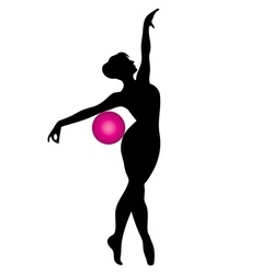 Gymnast with ball vector