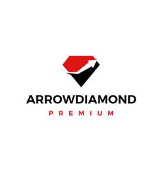 high quality diamond arrow logo icon vector image