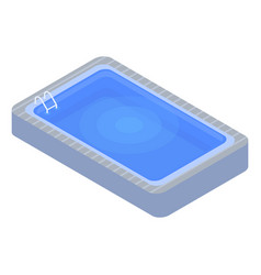 home swimming pool icon isometric style vector image