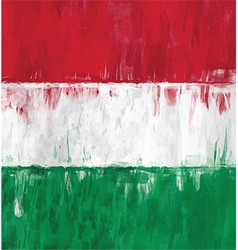 hungarian flag colors painting vector image