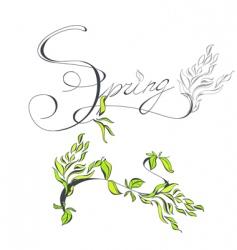 Inscription spring vector