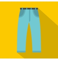 Jeans icon flat style vector