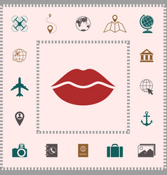 Lips symbol icon elements for your design vector