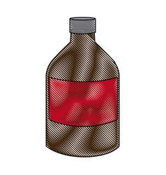 Medicine bottle liquid health care icon vector