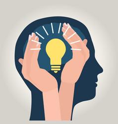 men idea care vector image