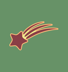 Meteor shower sign cordovan icon and vector