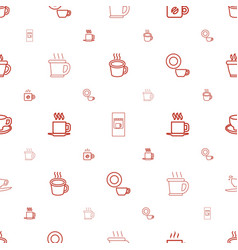 Mocha icons pattern seamless white background vector