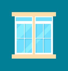 Modern plastic window in flat design vector