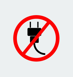 No plug icon vector