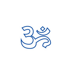 omindiameditation line icon concept omindia vector image