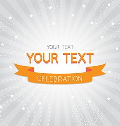 Orange vintage celebration card vector image
