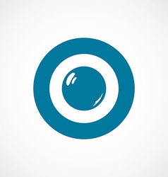 Pearl ring bold blue border circle icon vector